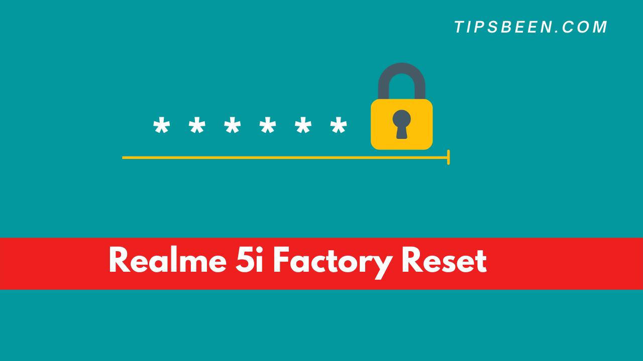 Realme 5i Factory Reset